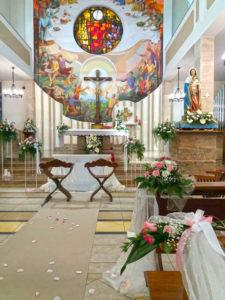 I fiori per il matrimonio in chiesa